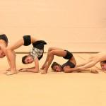 Rhythmic gymnasts in Capriolo, Italy