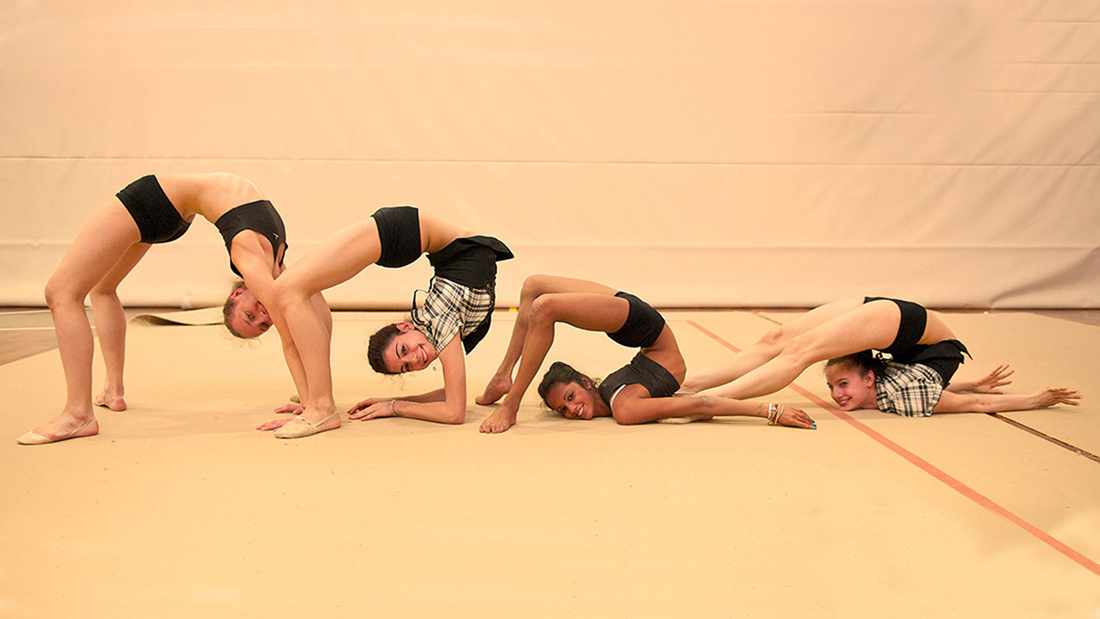 Rhythmic gymnasts in Capriolo, Italy